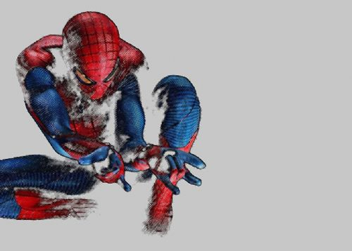 SPIDER MAN - AMAZING SKETCH LIGHT GREY canvas print - self adhesive poster - photo print